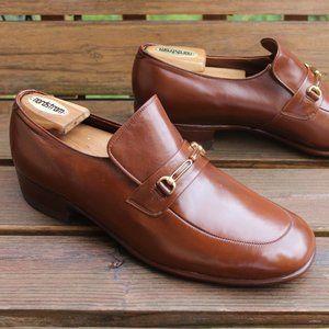 NOS 1970s VTG McHale Tan Calf Bit Loafer